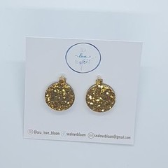Christmas Bauble Studs - Gold
