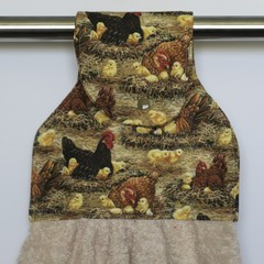 Hens and Chickens Hand Towel