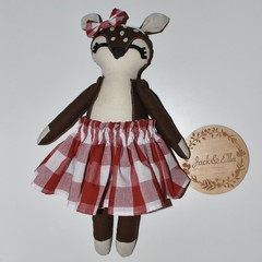 Small girl deer dark brown