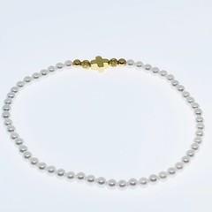 Swarovski Pearl and Gold Cross bracelet