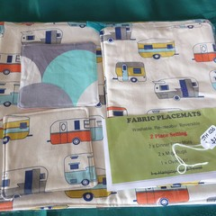 Eco-Friendly Fabric Placemats - 2 place setting - various designs