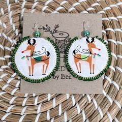 Green Reighndeer Earrings