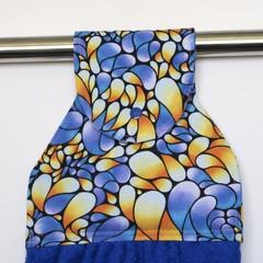Blue/yellow swirls Designer Hand Towel
