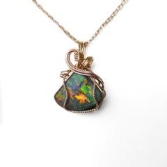7.65ct Australian Andamooka  Opal 14k gold fill wire wrapped