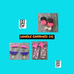 Dangle earrings.