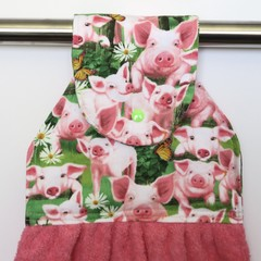 Happy Pigs Hand Towel