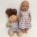 Dolls  Christmas Dress to fit Baby Born and Cabbage Patch Dolls