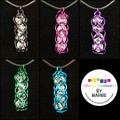 Colourful Chainmaille Basket Pendants (5x available)