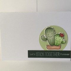 Cactus' sticking together - Handmade Card