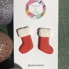 Santa Stockings in Red