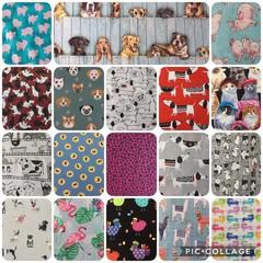 Size M  - L Dog Bandanas Pet  MADE TO ORDER Many fabric choices Bandanas