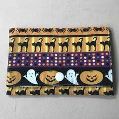 Yellow Halloween Stripes Purse