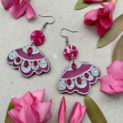 Polymer clay earrings-statement earrings Vida Goldstein