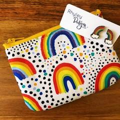Rainbow:  Earring & Coin Purse Gift Set