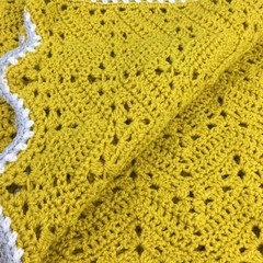 Handmade Crochet | 6 Day Baby Blanket | Mustard Colour