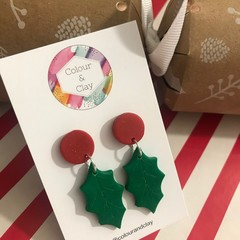 Christmas Holly Dangles