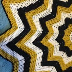 Handmade Crochet | 12 Star Baby Blanket