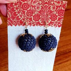 Christmas Crochet Bauble Earrings