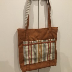 Tote- beautiful in orange BUY 2 ITEMS- GET A 3RD FREE SEE BELOW FOR CONDITIONS