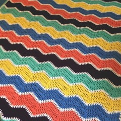 Handmade Crochet |  Ripple Blanket | Gender Neutral