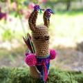 Llama Pencil Holder Cosy Crochet Desk Accessory Jar Cosy Mug Cosy