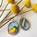 Paint Splatter hooks earrings