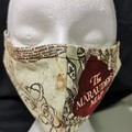 Handmade face mask has 3 layers cotton with a filter pocket, nose wire, elastic.