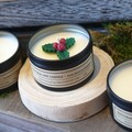 Christmas Gift / 3 Soy Candle Tin set