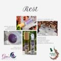 Rest Essential oils Blend with Gemstone Roller ball bottle
