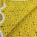 Handmade Crochet | 6 Day Baby Blanket | Mustard Colour