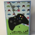 Level Up Xbox controller - Handmade Card