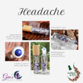 Headache Essential oils Blend with Gemstone Roller ball bottle