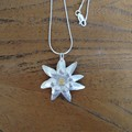 Recycled Silver Flower Necklace