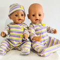 Baby doll Sleep Set - Mauve Stripe