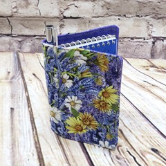 Yellow/white daisies  Fabric Pocket Notepad Cover