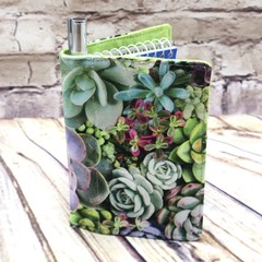 Succulents Fabric Pocket Notepad Cover