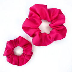Scrunchies | Plain | Hot Pink