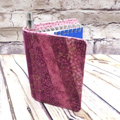 A cascade of pinks  Fabric Pocket Notepad Cover
