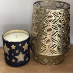 Large Star Christmas Candle Vanilla Caramel