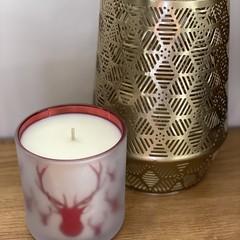 Large Christmas Candle Pomegranate