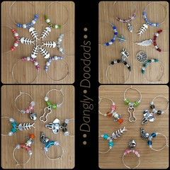 Beaded Charm Winemarkers (4x available)