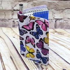 Butterflies Fabric Pocket Notepad Cover