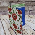 Poppies Fabric Pocket Notepad Cover