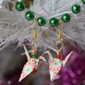 Christmas Origami Earrings