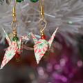 Christmas Origami Earrings