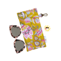 GLASSES CASE | SUNGLASSES Case - Mustard & Rose