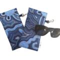 GLASSES CASE | SUNGLASSES Case - Making Tracks in Ocean Blue