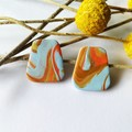 70's swirl - Medium Studs