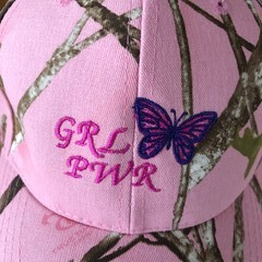 Pink Camouflage Cap with Embroidered Motif