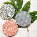 Mixed Colourful Red and Blue Porcelain Coasters